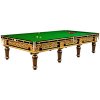 Spectacular Gilded English Billiard, Snooker or Pool Table, circa 1895