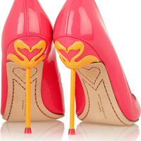 Sophia Webster - Coco neon patent-leather pumps