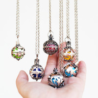 Pregnancy Maternity Angel caller ball necklace Harmony ball Ethnic box Indian silver gold chime Sound wishing pendant