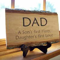 Rustic Handmade Wood Sign - Dad