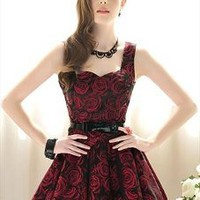 Gorgeous Rose Printed Ball Gown