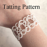 PDF Tatting Pattern Christina Bracelet - Beginner - Instant Download