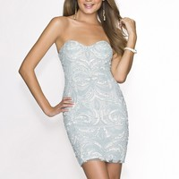 Scala 47673 Short Sweetheart Dress