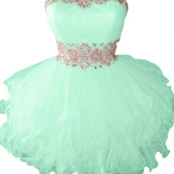 Sunvary Cute Sweety 16 Cocktail Homecoming Dress Evening Dress Mini - US Size 6- Mint