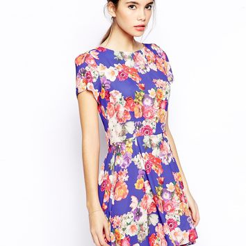 Love Skater Dress in Bright Floral -