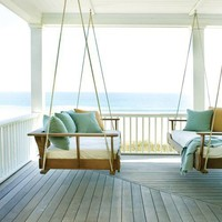 SUNSURFER, Double Porch Swings, Beach Cottage, South Carolina...