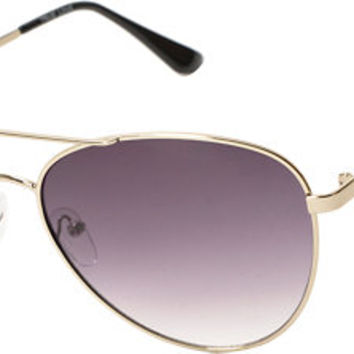 True Love Gold Aviator Sunglasses
