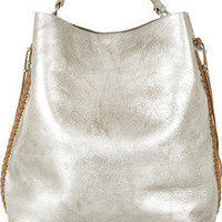 Ralph Lauren Collection | Laced metallic leather tote | NET-A-PORTER.COM