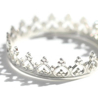 Sterling silver Crown Ring - Queen of Life. Made in UK. Free Worldwide Shipping
