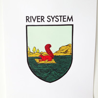 THE RIVER SYSTEM: screen print