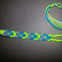 Flourescent Woven Friendship Bracelet