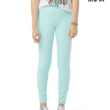 HIGH-WAISTED COLOR WASH PULL-ON JEGGING