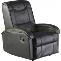 Seconique - Seconique Shangrila Black Faux Leather Recliner Chair
