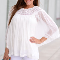 Peasantly Perfect Blouse, Ivory