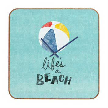 Nick Nelson Lifes A Beach Custom Clock