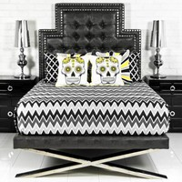 Rocker Santorini Bed in Gill Lizard Charcoal Faux Leather
