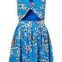 Printed Cut Out Dress by Rare** - Clothing  - Designers  - Topshop