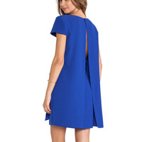Modern Lover Cape Dress in Blue