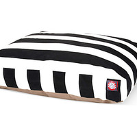 Vertical Stripe Rectangle Pet Bed, Black, Pet Beds