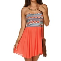 Promo-aztec Babydoll Dress