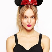 Disney Minnie Mouse Exclusive For ASOS Plush Ears With Sequin Bow Alic