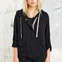 Drapey Jena Jacket in Black - Urban Outfitters