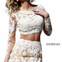 Two-Piece Laced Dress by Sherri Hill