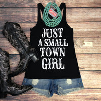 SMALL TOWN GIRL TANK TOP IN BLACK – LaRue Chic Boutique