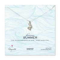 forever summer pretty mermaid necklace, sterling silver