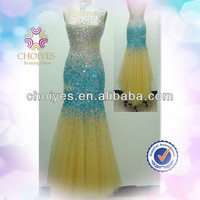 Choiyes AO71101 Blue Yellow Backless Sleeveless Crystal Beaded Shiny Silver Blue And Yellow Bridesmaid Dresses swarovski dress, View evening gown, Choiyes Product Details from Chaozhou Choiyes Evening Dress Co., Ltd. on Alibaba.com
