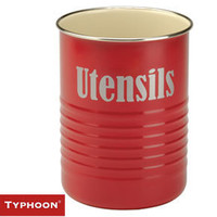 Typhoon Vintage Utensils Pot ? red kitchen utensil holder ? buy online