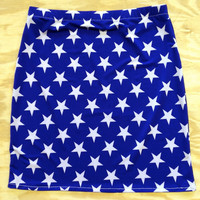 American Stars bandage skirt ALL SIZES by devowevoshop on Etsy