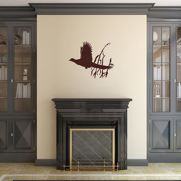Pheasant in Grass Vinyl Wall Decal 22419