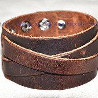 steampunk cuff bracelet real leather bracelet women leather bracelet cuff men leather bracelet CP80