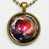 Galaxy Photo Necklace - Variable Star V838 by FantasticDIY on Etsy