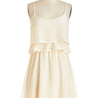 ModCloth Vintage Inspired Short Spaghetti Straps A-line Breezy to Love Dress
