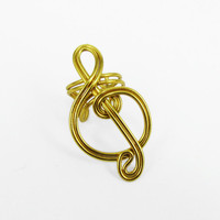 Gold Treble Clef Ear Cuff | Luulla