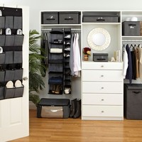 Black and Grey Faux Jute Closet Collection