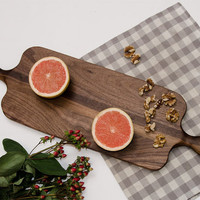 Cutting Board / Serving Platter – Double Handle Long Walnut
