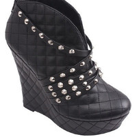Roxana Studded Booties - Black | Daily Chic