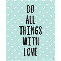 With Love Print