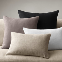 Belgian Linen Knife-Edge Pillows