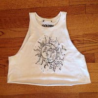 agatha sun and moon muscle tee cropped brandy Melville