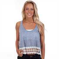 Lily White Juniors Crocheted High-Low Hem Tank at Von Maur