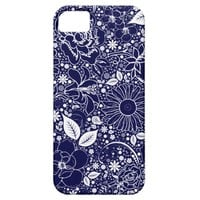 Botanical Beauties Blue iPHONE 5 Case