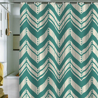 DENY Designs Home Accessories | Heather Dutton Weathered Chevron Shower Curtain