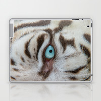 EYE OF THE WHITE TIGER Laptop & iPad Skin by Catspaws | Society6