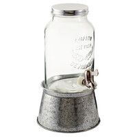 Galvanized Oasis Beverage Server, SilverARTLAND