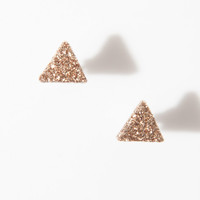 Galaxy Glitter Stud Earrings in Rose Gold
