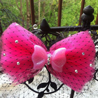 Huge Barbie Pink Bow by TattooedCuties on Etsy